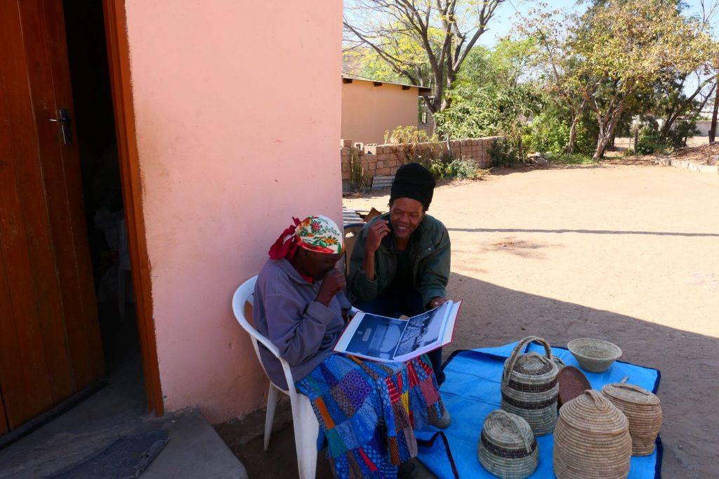Scobie Lekhutile interviewing Gaolhuha Ogopotse